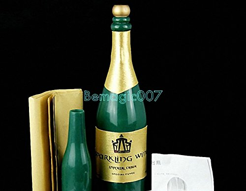 New Vanishing Champagne Bottle - LATEX Green - Stage Magic Tricks -