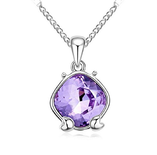 80s Basketball Players Costume (Yuriao Jewelry Elegant Fashion 18k Constellation Cancer Crystal Pendant Necklace£¨purple£)