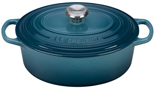 Le Creuset Enameled Cast Iron Signature Oval Dutch French Oven, 2 3/4 quart, Marine by Le Creuset
