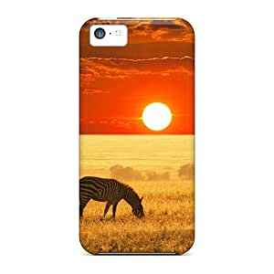 Jeffrehing Scratch-free Phone Case For Iphone 5c- Retail Packaging - African Savannah