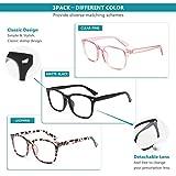 Gaoye 3-Pack Blue Light Blocking Glasses, Fashion