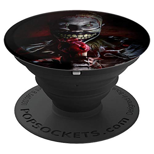 Scary Clown Face Of Horror Evil Eye Scared He Gonna Get You - PopSockets Grip and Stand for Phones and Tablets