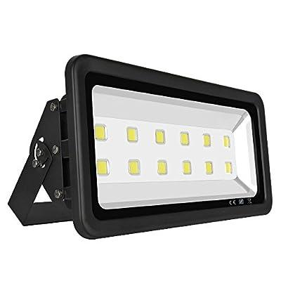 Fopretty LED Flood Light Outdoor Waterproof Black Shell IP65 Parking Lot Garden Sport Courts Super Bright