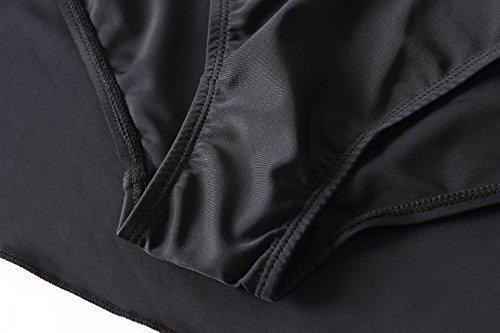 Lemonfish Women Underwire Tankini Swimsuit Plus Size, Halter Front Bow Top and Skort Bottom One Piece Swimwear Set Bathing Suits (Black, US Size 20W-22W) by Lemonfish (Image #5)