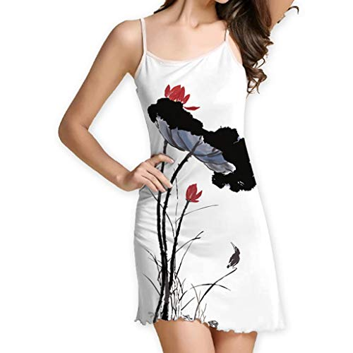 Save 15% BBesty Women's Vintage Boho Summer Sleeveless Beach Printed Short Sling Mini -