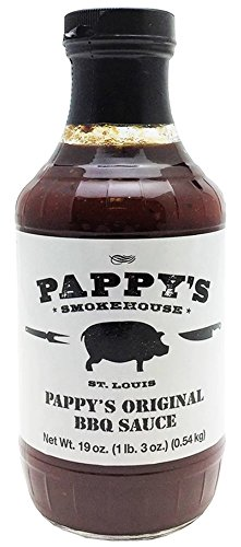 (Pappy's Smokehouse Original BBQ Sauce, 19 Ounce, Memphis Style Barbecue From The Best St. Louis BBQ Restaurant)