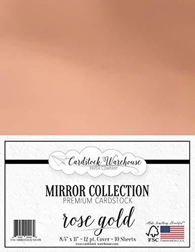 Mirror Rose Gold Mirricard Premium Cardstock 8.5