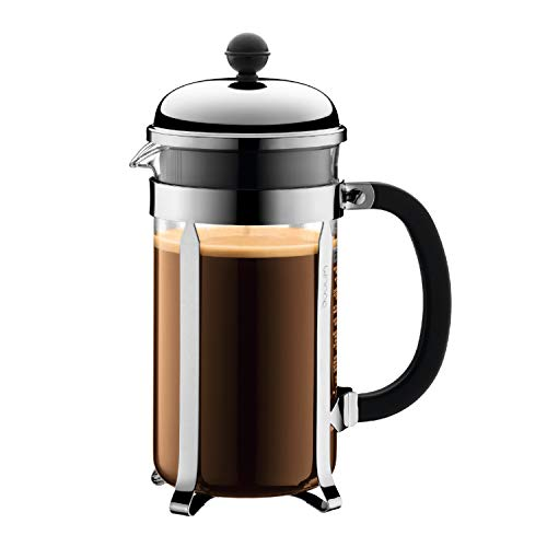 Bodum Chambord French Press Coffee Maker, 1 Liter, 34 Ounce, Chrome ()