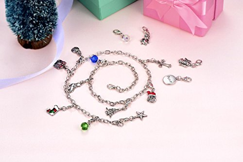 Christmas Advent Calendar Charm Necklace Bracelet DIY 24 ...