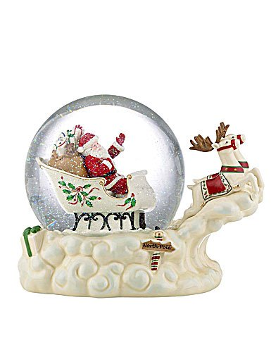 Lenox Holiday Figurals - Lenox Holiday Figural Musical Snowglobe Santas Sleigh Will ship by Mid October 2012