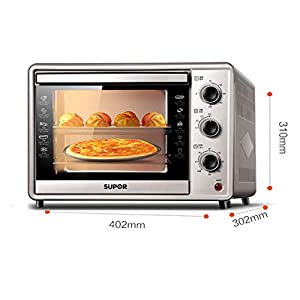 YB&GQ Countertop Toaster Oven, Convection Toaster Oven with Element Iq, Extra Large Smart Oven Led Lighting Glass Door Stainless Steel-b 40x30x31cm(16x12x12inch)