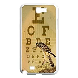 Customized Case Cover for SamSung Galaxy Note2 n7100 - Eye Chart case 3