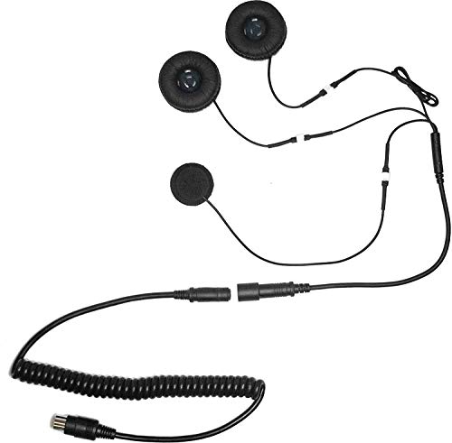 Cb Wiring Mic Radio (iMC Motorcom HS-H110P Full-Face Helmet Headset for 7 Pin Harley Davidson Audio Systems)