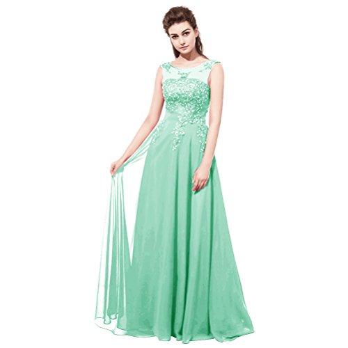 Schnüren Langes ärmellos Ballklider Kleid Elegantes O Perlen Schulter Burgund Spitze Abendkleider Aiyana Grun Rueckenfrei IwpxUqz8n