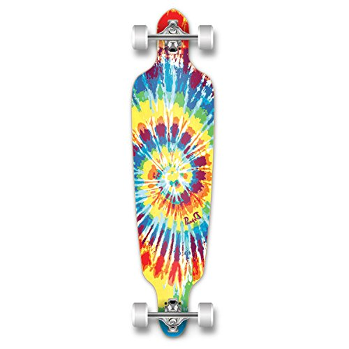 New Graphics Drop Through Complete Longboard Professional Speed Skateboard (Tiedye Original) ()