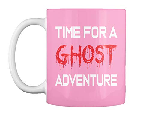 Time for a ghost adventure 11oz - Pink Mug - Teespring -