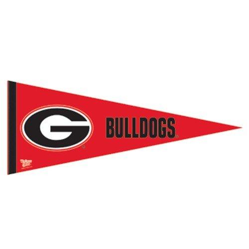 NCAA Georgia Bulldogs Red 12'' x 30'' Premium Felt Pennant