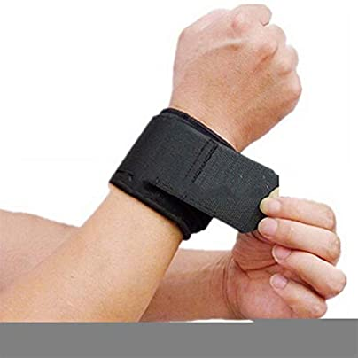 Wristband Universal Men Adjustable Tool Sports Wristband Wrist Brace Wrap Bandage Gym Strap Hand Sport Tool wrist straps Color Black Estimated Price £13.00 -