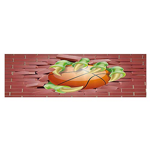 Fish Tank Decorations Claw AST Mster Hand Out Holds Basketball Ball Through Brick Wall Paint PVC Decoration Paper Cling Decals Sticker 23.6