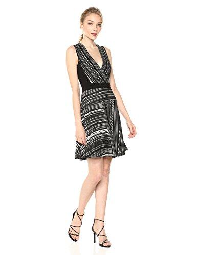combo wrap Faux Womens black Brecklyn Standard Jacquard Dress BCBGMAXAZRIA wIqZ8PpI