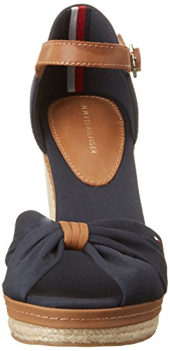 Sandales Bleu Midnight E1285lena Hilfiger 403 Compensées Femme 56d Tommy qpFwt7T