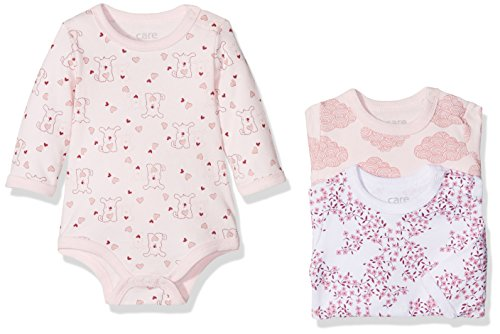 Care Baby-Mädchen Body 4132, 3er Pack, Mehrfarbig (Dusty Rose 505), 80