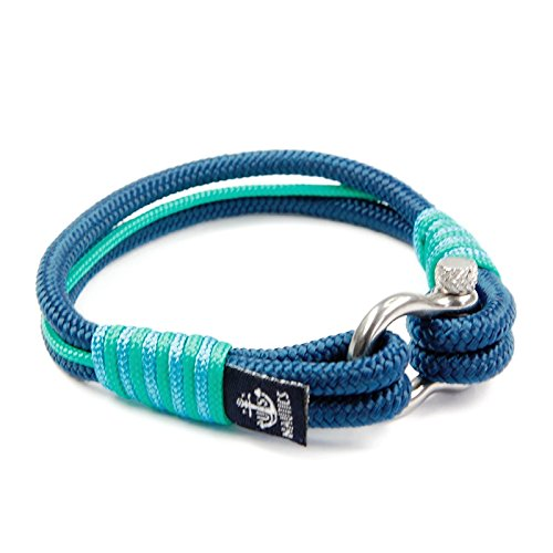 Blue Ocean Nautical Bracelets - Beautiful Bracelets Made of Yachting Rope- Wide Variety of Designs & Colors - Stainless Steel Buckle- Great Gift Idea for Men & Women- (Extra Large, St.Tropez)