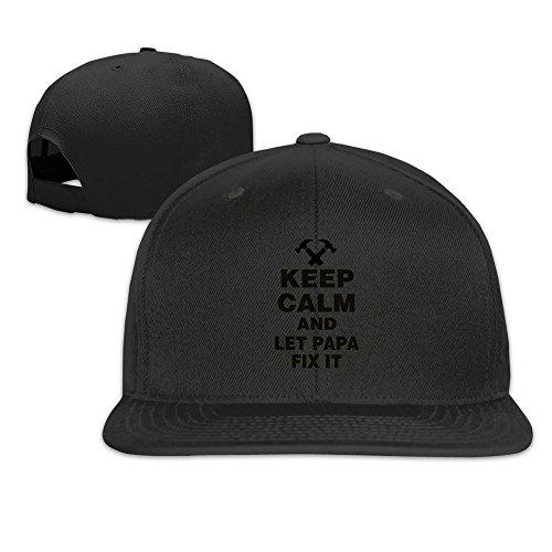 Keep Calm Let Papa Fix It Snapback Cap Flat Brim Baseball Caps -