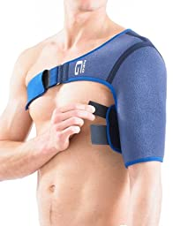 NEO G Shoulder Support - Right - Medical Grade Quality HELPS shoulder stability, pain, injured, weak, arthritic shoulders, shoulder dislocation, rotator cuff injuries, recovery – ONE SIZE Unisex Brace