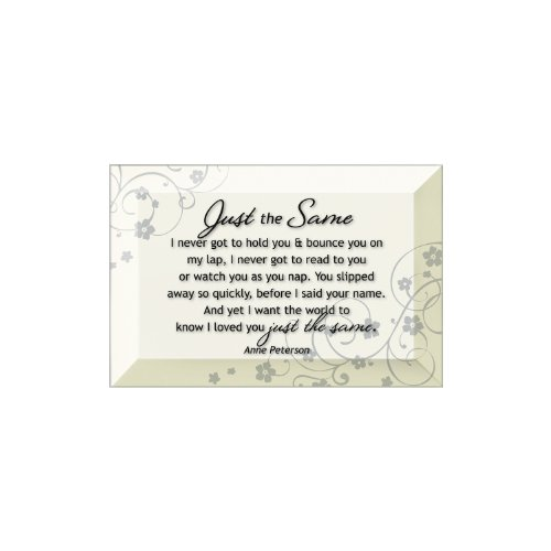 Glass Beveled Plaque (Dexsa Just The Same Beveled Glass Plaque with Easel)
