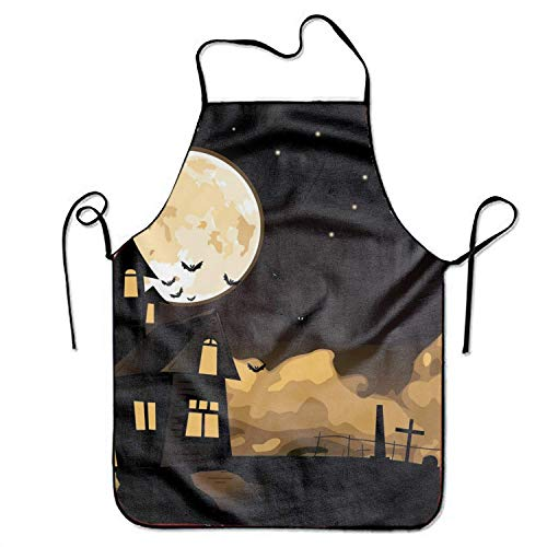 FnLiu Halloween City Tool Apron Cooking & Gardening Aprons