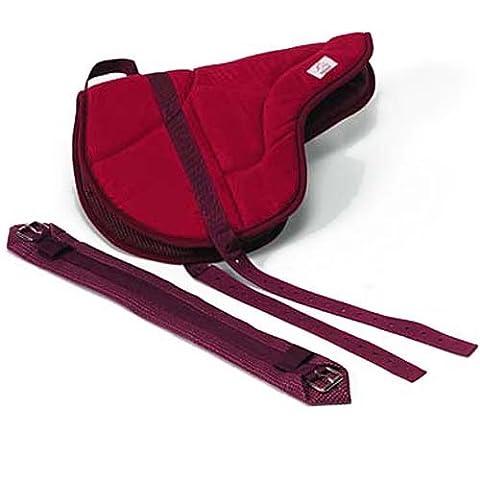 Best Friend English Style Bareback Pad, Red, Horse Size