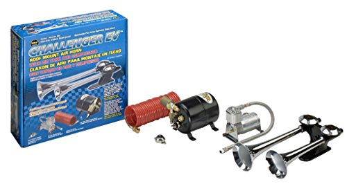 Wolo (810) Challenger EV Roof Mount Air Horn - Electric Solenoid Valve Operated