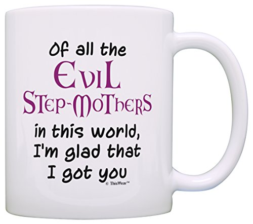 Stepmom Gifts Of All the Evil Step Mothers Im Glad I Got You Mothers Day Gifts for Stepmom Gift Coffee Mug Tea Cup White