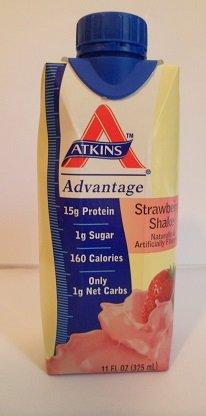 ATKINS Advantage Strawberry Shake 11 OZ (325 ml) (Pack of 12) by Atkins