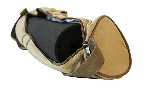 Yoga Mat Bag Made From Best Quality Canvas Cotton Bag comes with Fully Functional Pockets (27 inch long bag can fit any yoga mat)