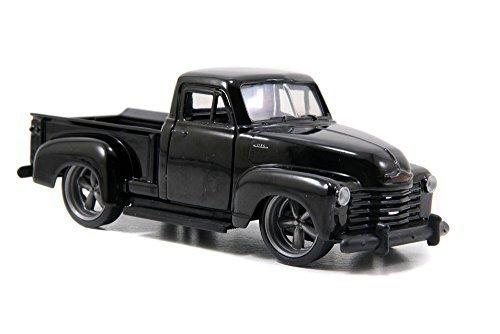 1953 Chevy Pickup Truck, Black - Jada Toys Just Trucks 97007 - 1/32 scale Diecast Model Toy Car