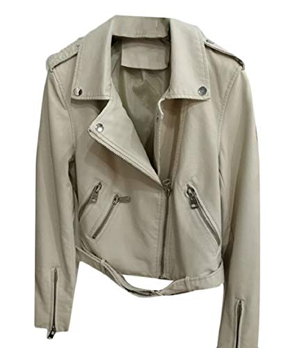 Leather Moto security Jackets Faux 2 PU Short Biker Women's Coats Bomber IqfUfwt