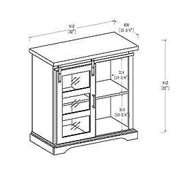 WE Furniture 32″ Modern Buffet