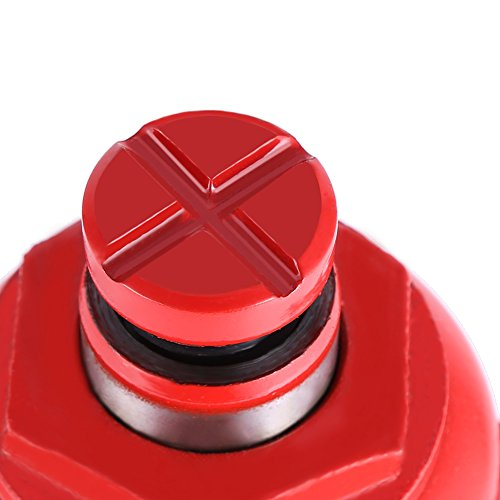 Hydraulic Bottle Jack, 8 Ton Capacity Red Portable Heavy Duty Hydraulic Jack Automotive Lifter for Car Caravan Tractors Truck by Yosooo (Image #4)
