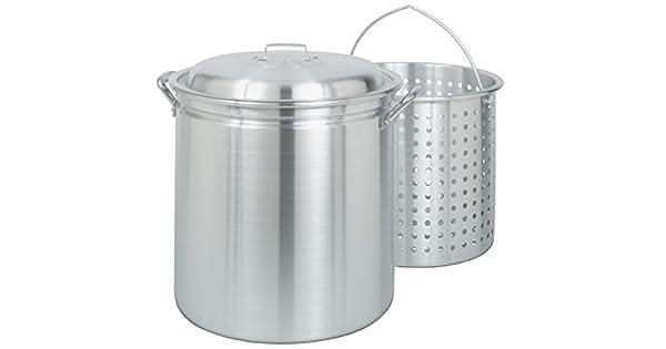 Amazon.com: Olla de aluminio con cesta vaporizadora ...