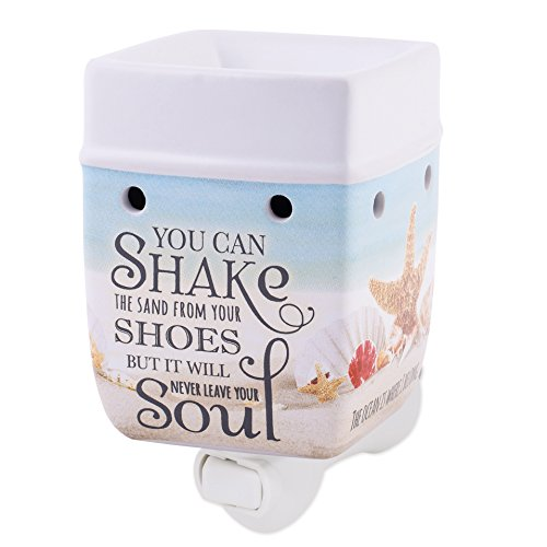 Elanze Designs Shake The Sand from Shoes Beach Ocean Stoneware Electric Plug-in Wax Tart Oil Warmer by Elanze Designs (Image #6)