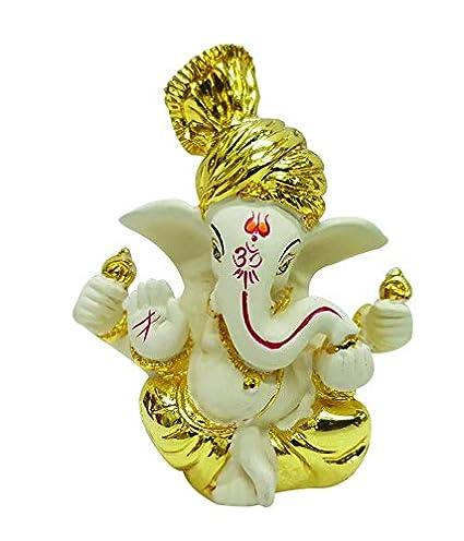 Buy Rp Collections Ceramic Ganesh Idol For Car Dashboard Ganesha