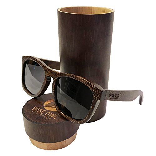 Wiseowl Polarized Bamboo Wood Sunglasses |Eco-friendly, Ligh