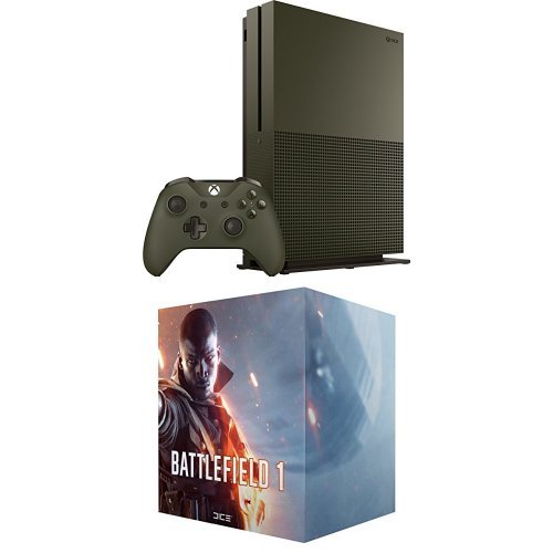 Xbox One S 1TB Console – Battlefield 1 Special Edition Bundle + Battlefield 1 Collector's Edition