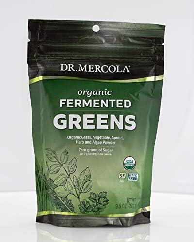 Dr. Mercola, Organic Fermented Greens, 9.5 oz 270 g , 90 Servings, Certifed Organic, Non GMO, Soy-Free and USDA Organic