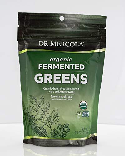 Dr. Mercola, Organic Fermented Greens, 9.5 oz (270 g), 90 Servings, Non GMO, Soy-Free, Gluten Free, USDA Organic