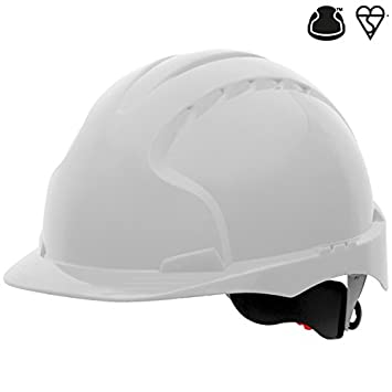 JSP aje170 – 000 – 100 EVO3 revolución rueda trinquete casco, color blanco