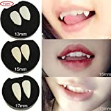 Vampire Teeth with Glue, 3 Pair Halloween Costume Fangs Dentures Props Halloween Props Party Favors