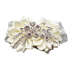 Flonding Girl Bridesmaid Wedding Wrist Corsage Bride Rhinestone Wrist Flower Corsages Stretch Wristband Hand Flowers for Wedding Prom Party Homecoming Decor 83